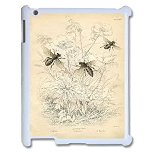 Best Quality [LILYALEX PHONE CASE] Honey Bee Pattern For Ipad 2/3/4 Case CASE-12