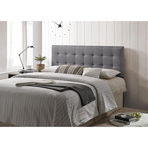 Queen Size Square Bed (Poly and Bark Guilia Square-Stitched Headboard Queen Size)