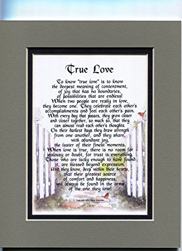 Anniversary Or Engagement Gift Present Poem About True Lo...