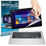 SmartGlaze ( Pack Of 3 ) ASUS Transformer Book T200TA 11.6 Laptop Case Custom Made Crystal Clear Premium LCD Screen Protectors Packs With Polishing Cloth & Application Card