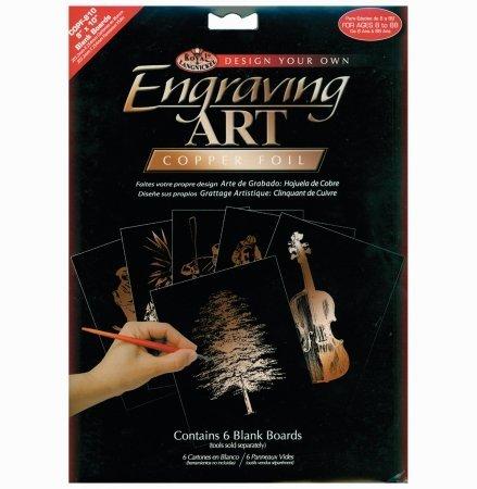 Foil Engraving Art Blank Boards 8x10 6/Pkg-Copper by ROYAL BRUSH