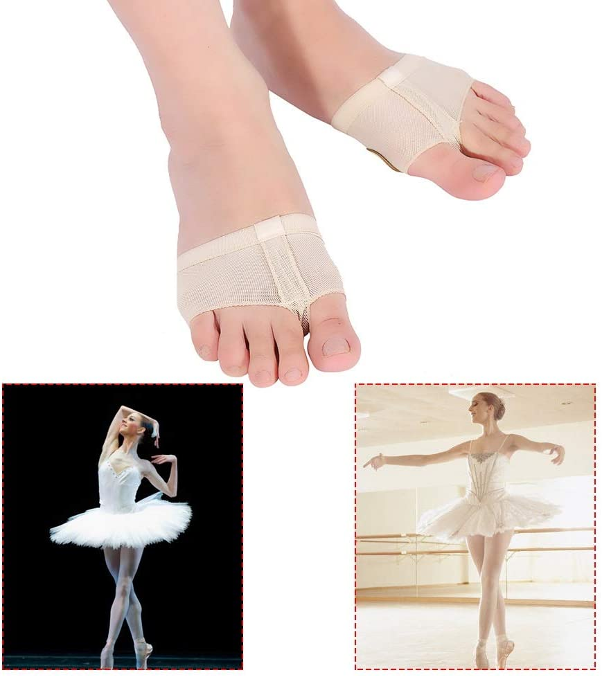 , Size : L Color : Skin Color Mufuny Dual Sole Patches Dance Paw Pads Lyrical Ballet Dance Foot Thong Shoes Half Sole Dance Paw Fitness Shoes Skin Color as Shown