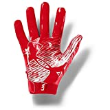 Under Armour Men's F7 Football Gloves , Red