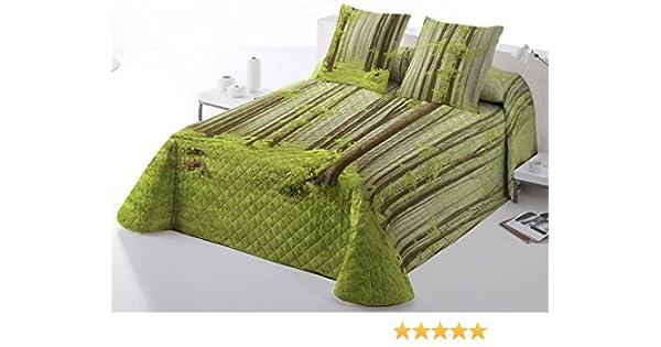 COTTON ART. Colcha Bouti BOSQUE cama de 135 (235 x 260 cm). ALGODÓN 100%.: Amazon.es: Hogar