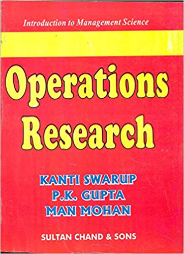Operations Research Kanti Swarup Ebook