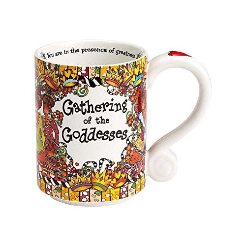 Enesco 4056467 Gathering of the Goddesses Stoneware Mug, 14 oz, - Face Shape Your Identify