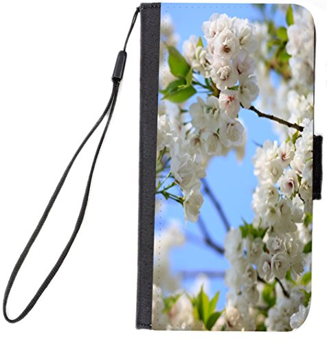 Cherry Tree Leaves - Rikki Knight Wild Cherry Blossom Tree Leaves Design, Cell Phone Case for Samsung Galaxy S6 - Black