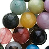 UnCommon Artistry Natural Gemstone Loose Bead Mix Round Beads 8mm (50pcs)