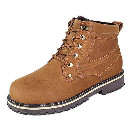 Ailishabroy Haut Up Chaussures Combat Warm Hommes Impermable Winter Bottines Jaune Lace Randonne vzrqwv4xn