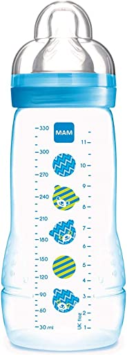 Mamadeira 330 ml Easy Active, MAM, Azul