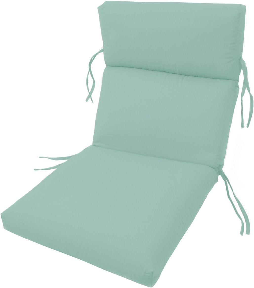 Comfort Classics Inc. Sunbrella Outdoor CHANNELED Chair Cushions 22W x 44L x 3H Hinge at 24 in Glacier