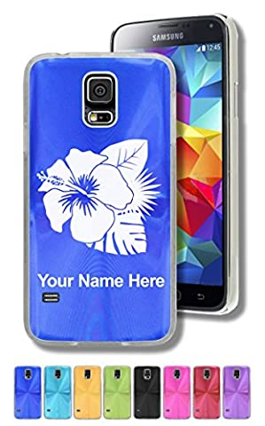 Case for Samsung Galaxy S5 - Hibiscus Flower 2 - Personalized Engraving Included (Samsung Galaxy S5 Cases Hawaii)