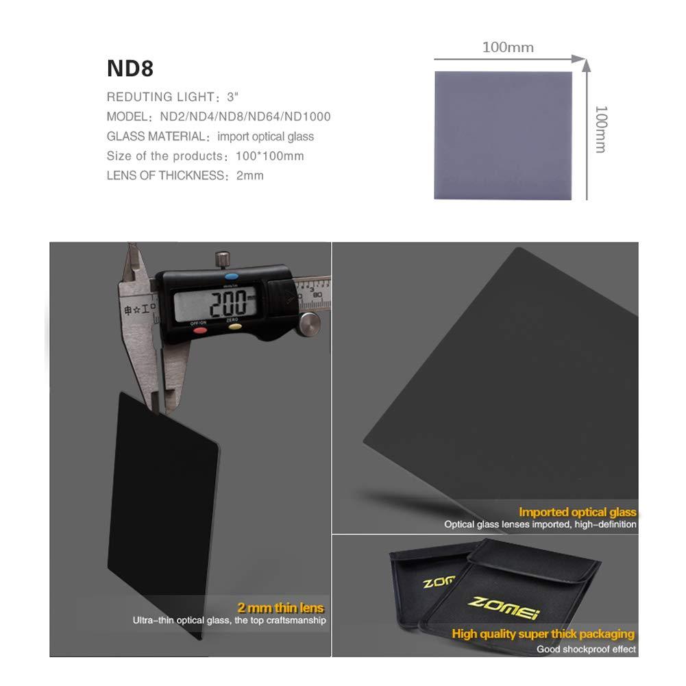 ZOMEi 100x150 mm ND8 Filtres de Gris Gradu/és