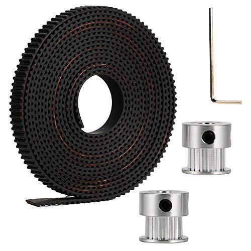 AKHILAM 2 Meter GT2 6MM Open Timing Belt + 2 Pcs 20 Teeth Pulley 5mm Bore + Allen Key Price & Reviews