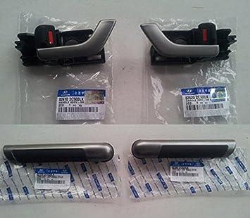 Hyundai Motors OEM 826102C500 826202C500 823722C020 823822C020 Inside Door Handle Catch + Grip 4-pc