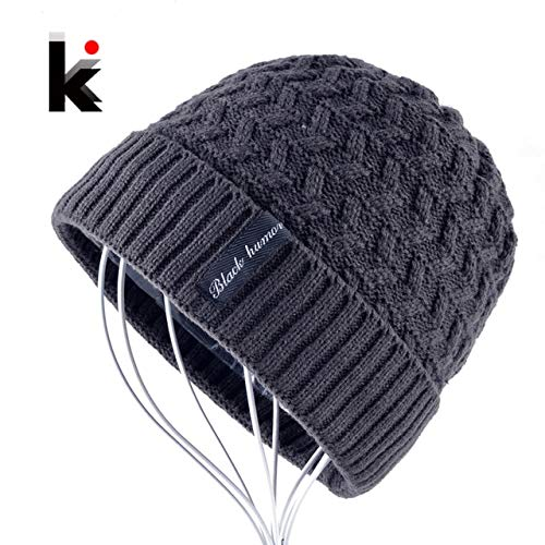 645fd2bc47490 Elvy 2018 Winter Knitted Hat Men Skullies Beanie Knitting Wool Hats for Boys  Beanies Bonnet Casual Warm Gorro Touca Masculina Inverno  Amazon.in   Clothing   ...