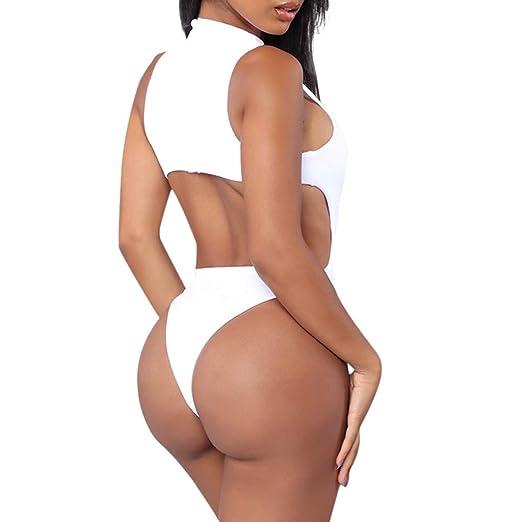 FEDULK Womens One Piece Hole Swimming Swimsuit Monokini Push ...