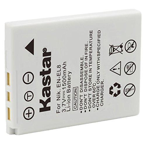 Kastar Battery 1 Pack for Nikon EN-EL8 ENEL8 Coolpix P1 P2 Coolpix S1 S2 S3 S5 Coolpix S6 Coolpix S7 S7c Coolpix S8 Coolpix S9 Coolpix S50 Coolpix S51 S51c Coolpix S52 S52c Cool-Station MV-11 MV-121