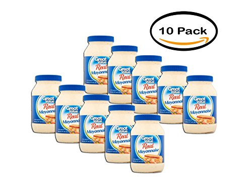 PACK OF 10 - Great Value Real Mayonnaise, 30 fl oz by Great Value