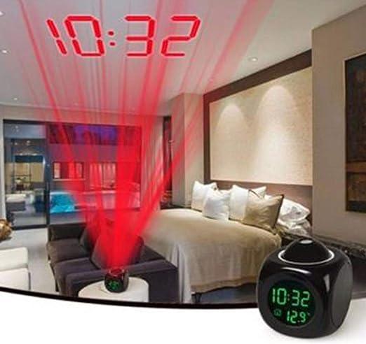 OGGID Reloj Despertador Proyector Digital con Música de Pantalla ...