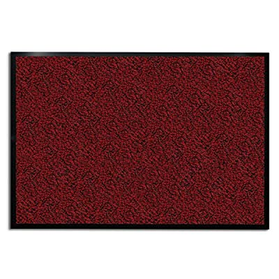 casa pura Carpet Entrance Mat, Red (Mottled) | Absorbent, Non-Slip, Indoor/Outdoor (Multiple Sizes)