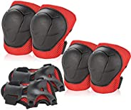 Kids/Youth Knee Pad Elbow Pads Guards Protective Gear Set for Roller Skates Cycling BMX Bike Skateboard Inline