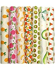 Gnognauq 7 Pieces Quilting Fabric Fat Quarters Fabric Bundles 18x22 inch for Quilting Sewing and Crafting