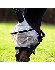 Horseware Ireland Rambo Flymask Plus non treate, Oatmeal wi, Horse