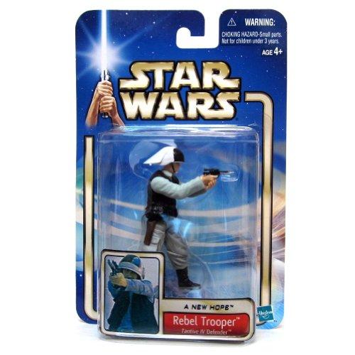 Star Wars, 2002 Saga Collection, Rebel Trooper (Tantive IV Defender) #54 Action Figure, 3.75 Inches
