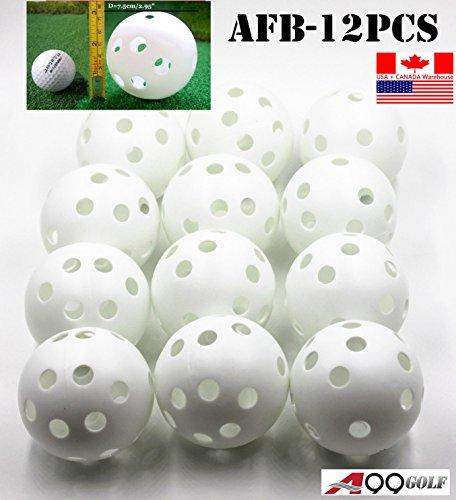 A99 Air Flow Ball White 7.5cm/2.95'' Training Balls for Baseball or Softball - 12 Pcs by A99 Golf
