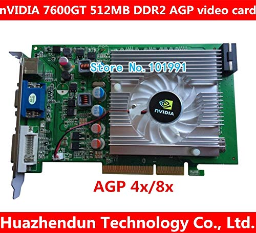 ShineBear nVIDIA GeForce 7600GT 512MB DDR2 AGP 4X 8X VGA DVI Video Card - (Cable Length: 7600GT)