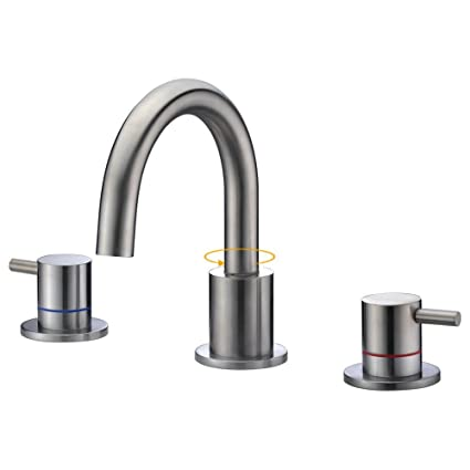 Charmant SURNORME Bathtub Faucets 2 Handle Widespread Bathtub Faucets Vanity Basin  Hot And Cold Water Mixer Tap