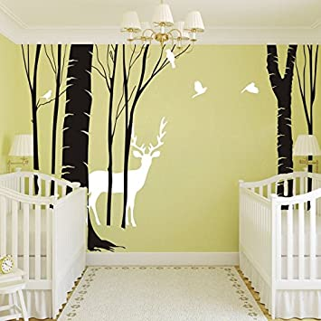Amazon.com: Birch Tree Wall Decal Vinyl Home Wall Art Decor Fantasy ...