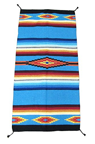 (El Paso Designs Hand Woven Classic Mexican Serape Rug Classic Mexican Saltillo Diamond Design Rug - - Three Sizes to Choose from (32