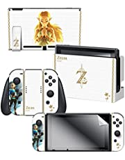 "Controller Gear Nintendo Switch Skin & Screen Protector Set Officially Licensed By Nintendo - The Legend of Zelda: Breath of the Wild: ""Princess Zelda"" - Nintendo Switch"