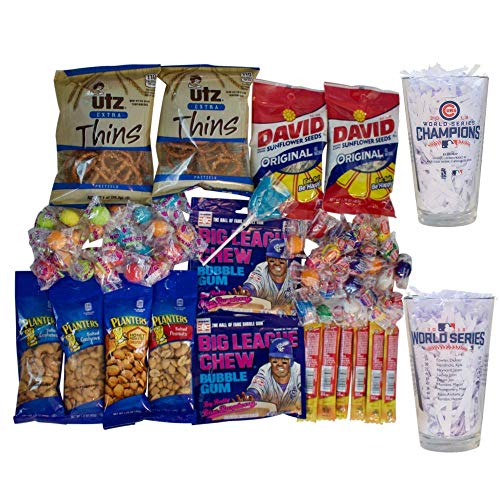 - Cubs Birthday For Men Includes 2 Glasses, Snacks, Jerky, Candy and Gum