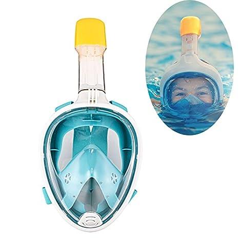 Máscara de snorkel vista completa 180 grado Full Face snorkel mascarillas de buceo Mascara para adultos