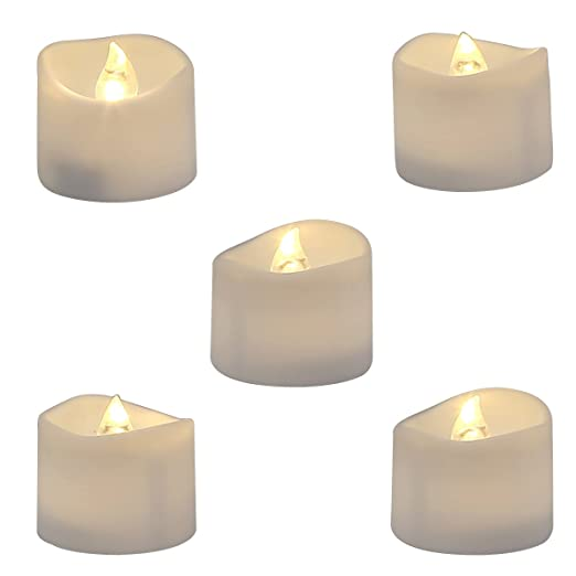 Battery Operated Flameless LED Tealight  - Set of 12