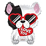 I Love You French Bulldog Frenchie 18'' Mylar Balloon I Love You Birthday Party Decorations Supplies