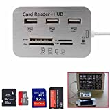Simply Silver - Card Reader Adapter+3-USB HUB Camera Connection Combo Kit for ipad air/MINI EFF - Unbranded