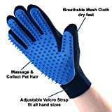 Pet Hair Remover Glove - Gentle Pet Grooming Glove Brush - Deshedding Glove - Massage Mitt with Enhanced Five Finger Design - Perfect for Dogs & Cats with Long & Short Fur - (1 Pack (Right-hand))