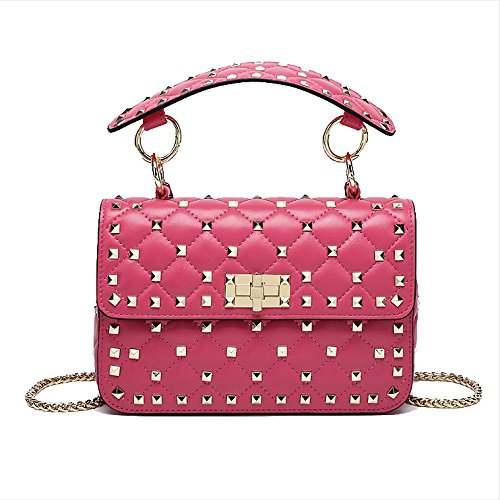 Bag Ajlbt Summer Mesdames Party Mode Rosered Casual Rivet xqwF4w8g