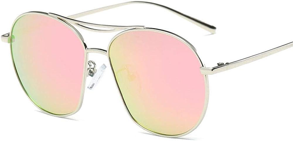 Lunettes de soleil polarisées Classic Mirror pour femmes, monture surdimensionnée avec protection 100% UVA pour la conduite de voyages en extérieur, monture noire grise Rose