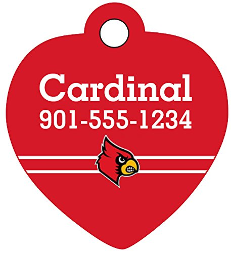 Louisville Cardinals Personalized Dog Tag Cat Tag Pet Id Tag