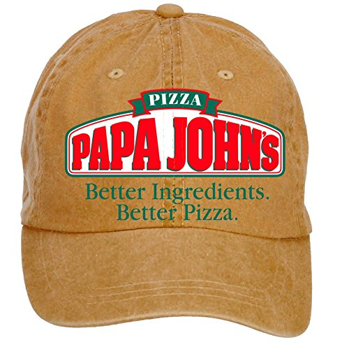 nusajj-papa-johns-ja-adult-unstructured-100-cotton-sports-hats-design-brown-one-size