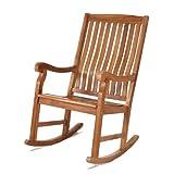 Teak Rocking Chair - Solid Teak Porch Rocker - Patio and Garden Furniture