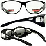 Escort Over Glasses Clear Lens Safety Glasses Has Matching Side Lens Meets ANSI Z87.1-2003 Standards for Safety Eyewear
