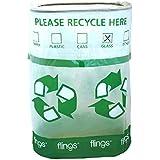 "Amscan Flings Bin - Recycle Patented Pop-Up Trash Bin, 22 x 15 x 10""/13 gallon, Green"