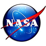 MAGNET 3D Look NASA Logo Shaped Magnetic Sticker (space meatball decal)