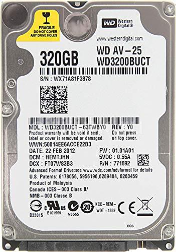 Western Digital WD AV-25 WD3200BUCT 320GB 5400 RPM 16MB Cache SATA 3.0Gb/s 2.5